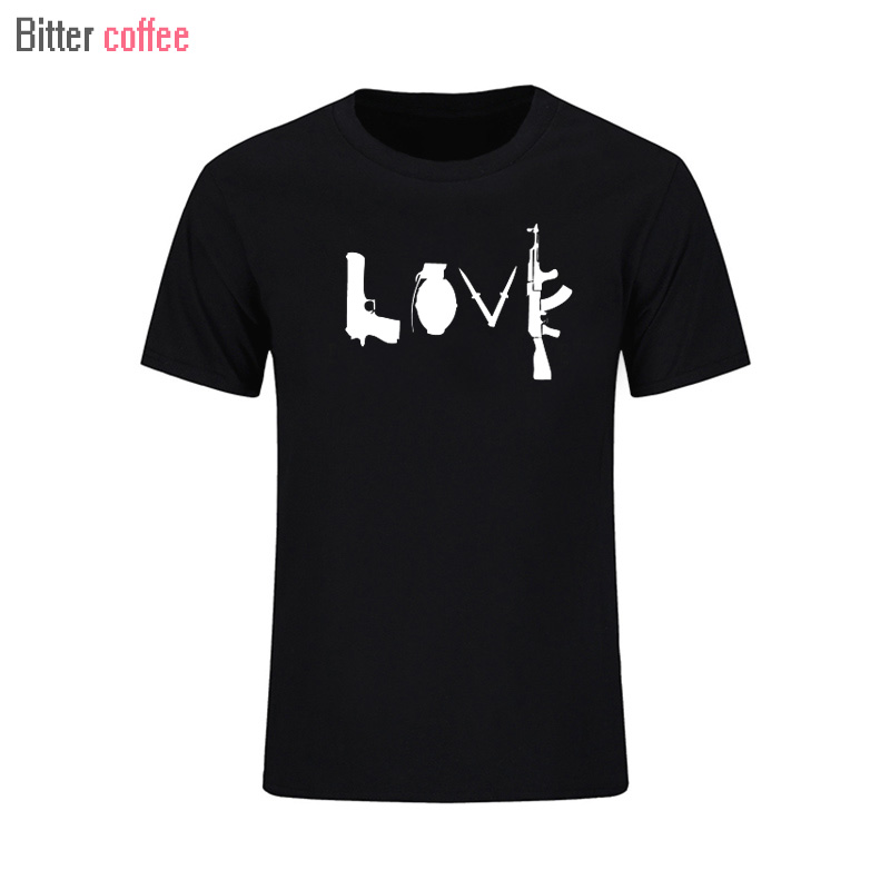 BITTER COFFEE summer NWE Banksy Love Weapons Short sleeve T SHIRT GRAPHIC PRINT TEE CROSS Tops & Tees More Size and Colors